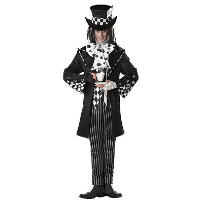 Vintage Men's Costumes – 1920s, 1930s, 1940s, 1950s, 1960s Adult Dark Costume - Mad Hatter $69.99 AT vintagedancer.com