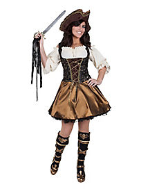 Adult Gold Buccaneer Beauty Pirate Costume