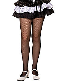 Kids Black Fishnet Tights