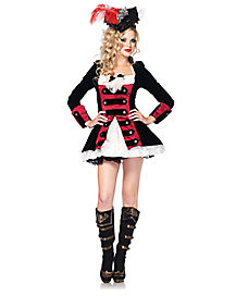 Adult Charming Captain Pirate Costume