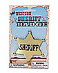 Gold Sheriff Badge
