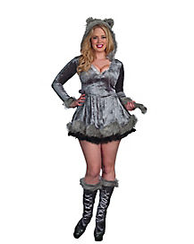 Adult Big Bad Wolf Plus Size Dress Costume