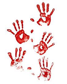Floor Gore Bloody Human Handprints - Decorations