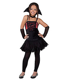 Dark Red Vampire Girls Costume
