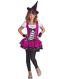 Sugar N'Spice Witch Girls Costume