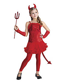 Red Devil Girls Costume