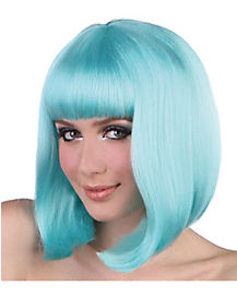 Pageboy Light Blue Wig