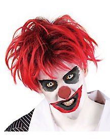 Red & Black Clown Wig