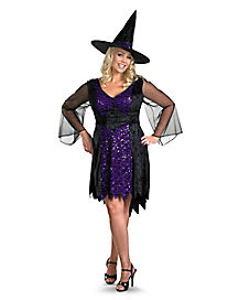 Adult Womens Plus Size Bewitched Witch Costume