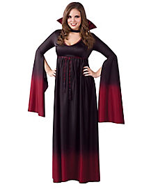 Adult Bood Vampiress Plus Size Costume