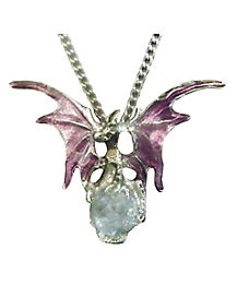 Purple Dragon Necklace