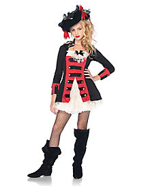 Pretty Pirate Captain Girls Costume