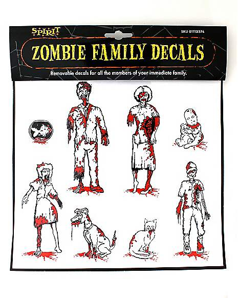 Zombie Family Car Decals - Spirithalloween.com