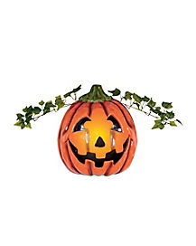 Pumpkin Porch Light Cover - Decorations