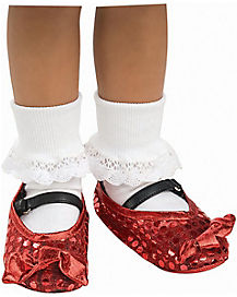 Kids Red Sequin Dorothy Shoe Covers - The Wizard of Oz