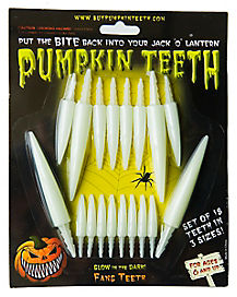 Glow in the Dark Pumpkin Fang Teeth
