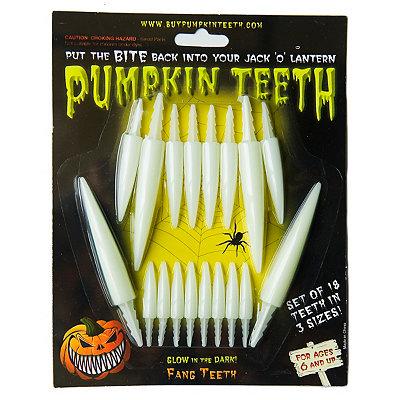 Pumpkin Teeth Glow in the Dark Fangs