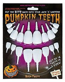 Pumpkin White Buck Teeth