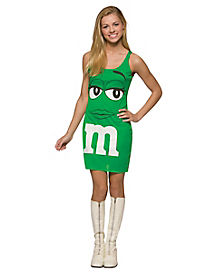 Tween Green M&M Tank Dress Costume - M&M's