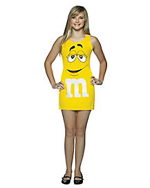 Tween Yellow M&M Tank Dress Costume - M&M's
