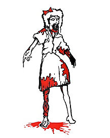 Zombie Daughter Car Decal