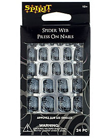 Spider Web Press on Nails