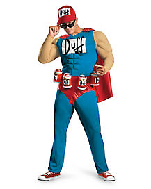 The Simpsons Duffman Muscle Adult Mens Costume