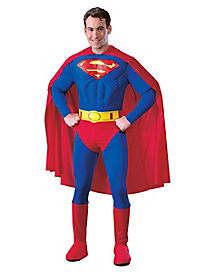 Adult Muscle Superman Costume - Superman