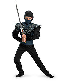 Kids Muscle Night Camo Ninja Costume