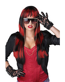 Untamed Black and Red Wig
