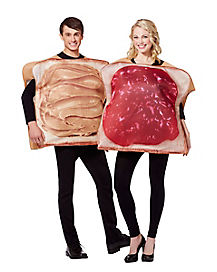 Adult Peanut Butter and Jelly Couples Costume