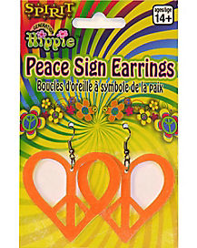 Orange Hippie Earrings