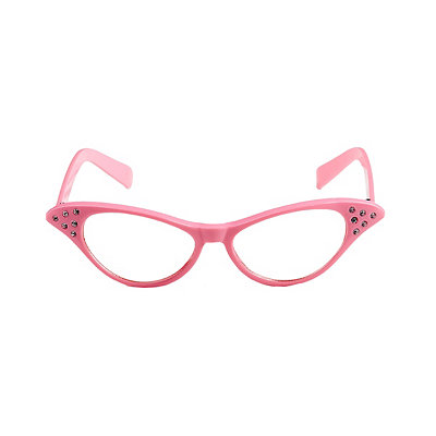 Vintage Inspired Halloween Costumes 50s Pink Rhinestone Glasses $7.99 AT vintagedancer.com