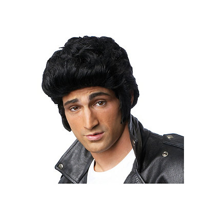 Vintage Men's Costumes – 1920s, 1930s, 1940s, 1950s, 1960s Black Pompadour Wig $14.99 AT vintagedancer.com