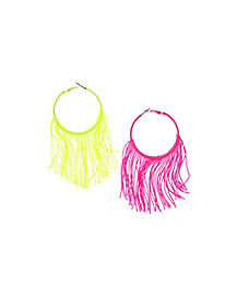 Neon Fringe Earrings