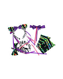 Neon Zebra 4 Piece Kit