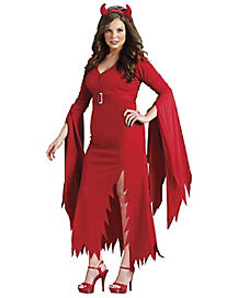 Adult Gothic Devil Plus Size Costume