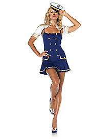 Ship Shape Captain Adult Womens Costume