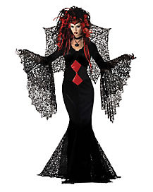 Black Spider Adult Womens Vampire Costume