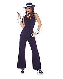 Adult Sleeveless Pin Stripe Gangster Costume