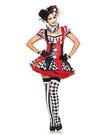 Harlequin Clown Adult Womens Costume
