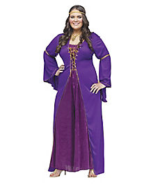Adult Medieval Miss Plus Size Costume