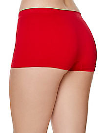 Red Womens Boyshorts