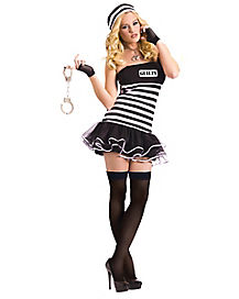 Guilty Conscience Prisoner Adult Womens Costume