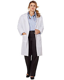 Adult Lab Coat Plus Size Costume