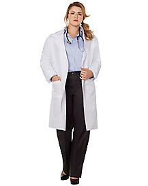 Adult Lab Coat Plus Size Costume