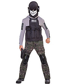 Kids Skull Commando Costume