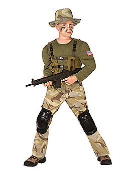 Kids Special Ops Commando Costume