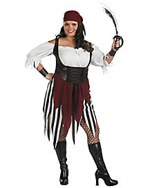 Adult Shredded Deck hand Darling Pirate Plus Size Costume