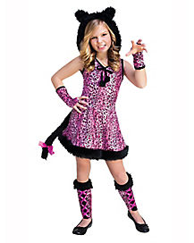 Kids Pink Kitty Costume